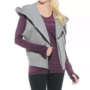 Nike Womens Tech Fleece Hooded Cape Vest Sz M